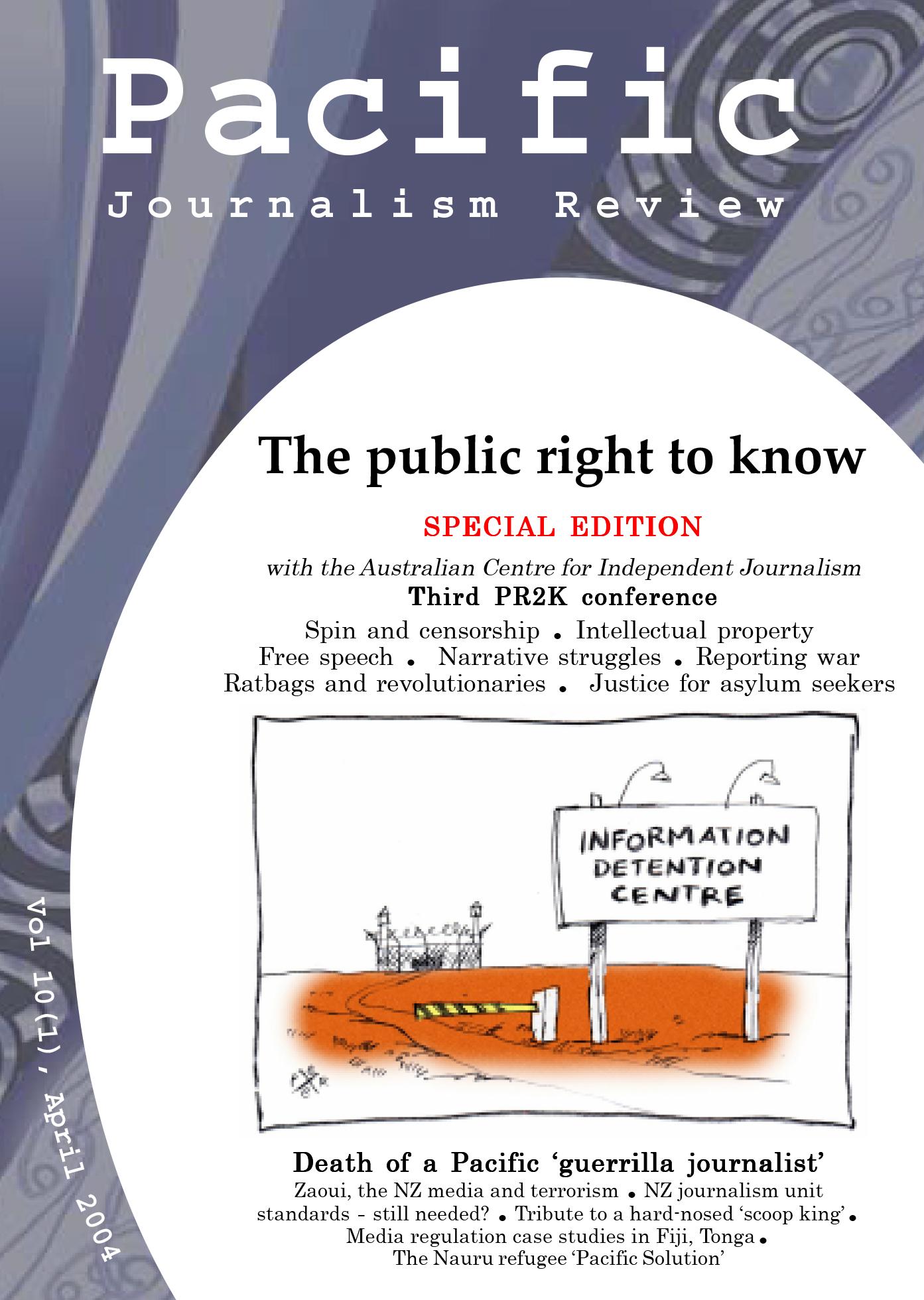 PJR cover 10(1) April 2004